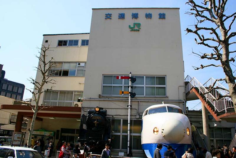 在原中央线万世桥站房遗址上建起的交通博物馆