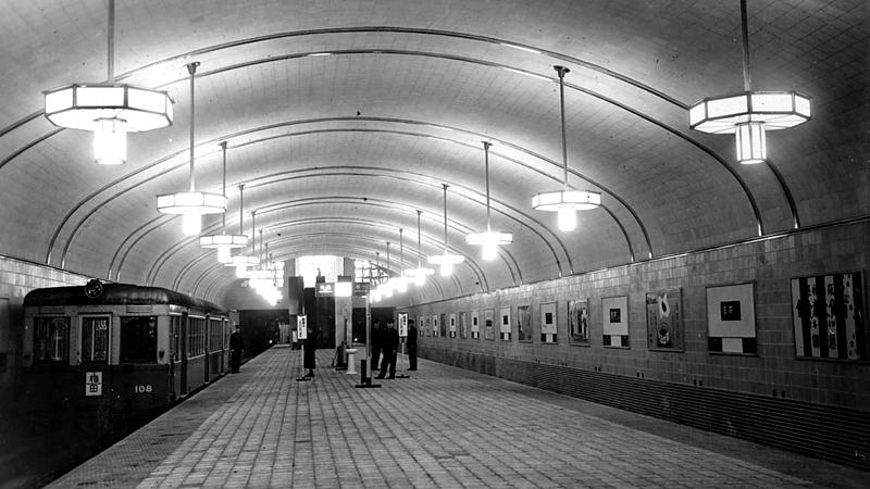 1933年刚开通时的心斋桥站