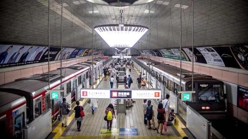 摄于2016年的心斋桥站