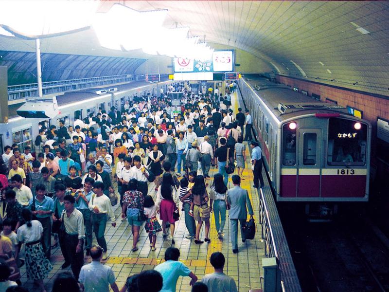 摄于1989年的梅田站