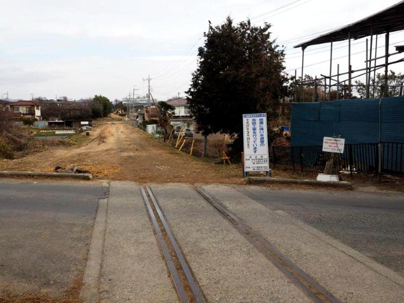 摄于2015年,进行BRT专用道改造前的日立电铁已废弃线路