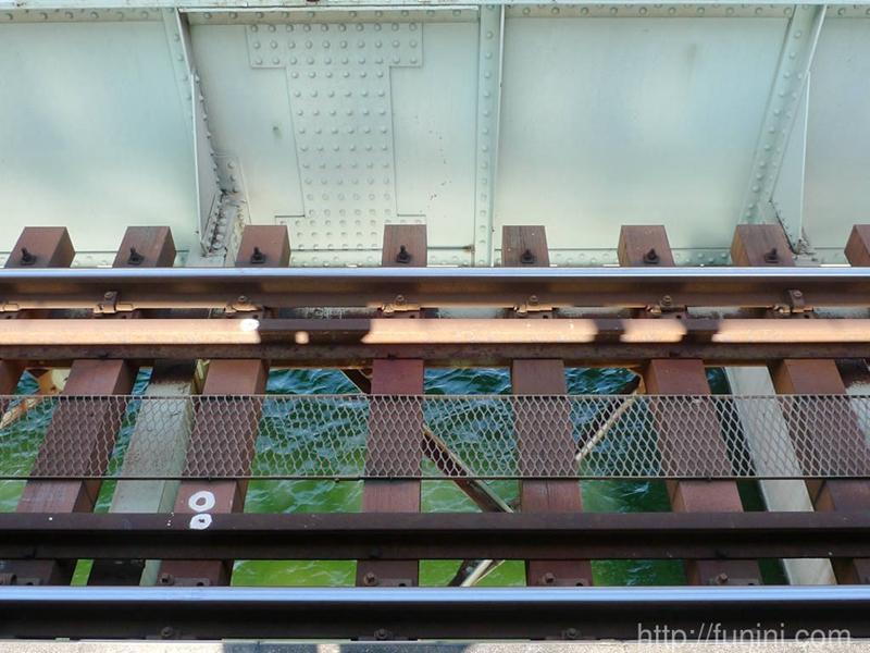 武库川车站铁道下方的河水
