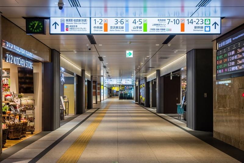 下图是东京车站内的导向标志